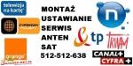 Instalacje, montaż, ustawianie anten SAT, DVB-T, sieci wi-fi
